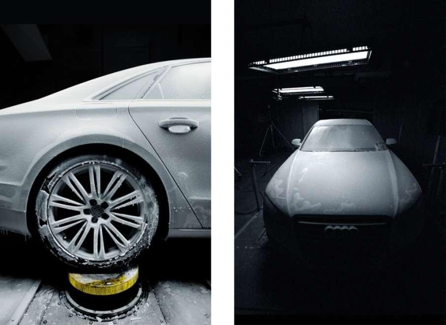 Audi A8 details frozen
