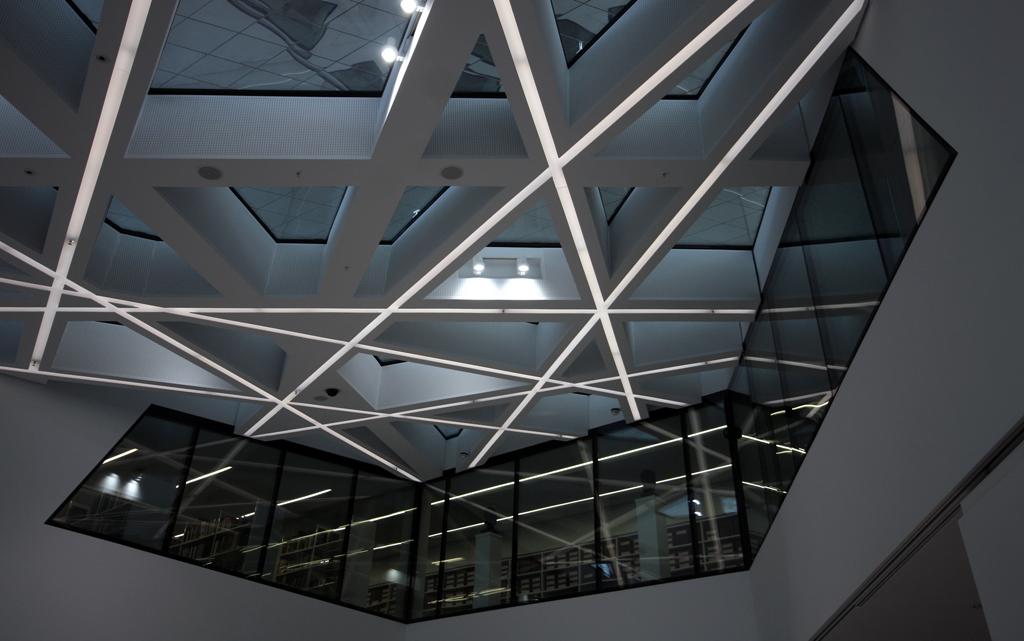 Porsche Museum ceiling