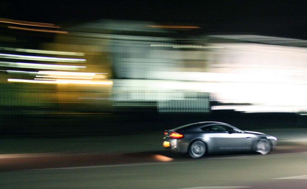 Aston Martin on speed