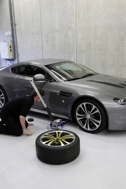 Aston Martin worker